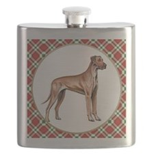 RDORN-great-dane-christmas Flask