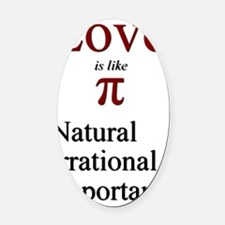 Love-Pi Oval Car Magnet