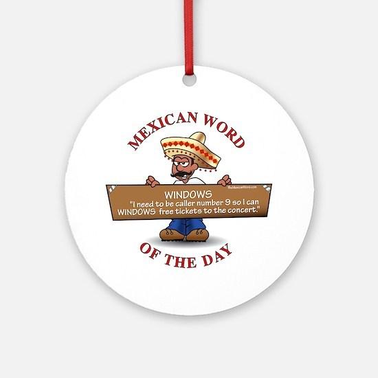 MWOD-Windows Round Ornament