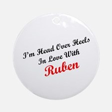 In Love with Ruben Ornament (Round)