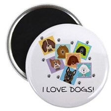 "I Love Dogs 2.25"" Magnet (10 pack)"