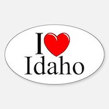 """I Love Idaho"" Oval Decal"