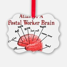 Atlas of a Postal Worker Brain Ornament