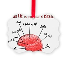 Atlas of a Golfers Brain Ornament