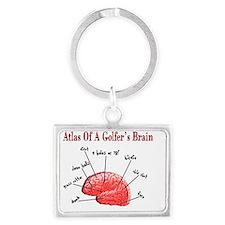 Atlas of a Golfers Brain Landscape Keychain