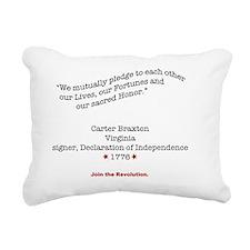 BraxtonShirtBack Rectangular Canvas Pillow