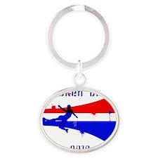 Korea DPR copy Oval Keychain