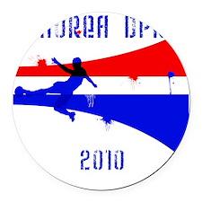Korea DPR copy Round Car Magnet