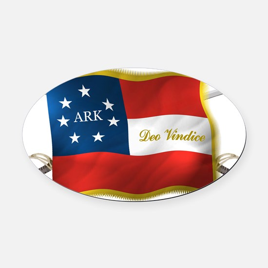 Ark first national Oval Car Magnet