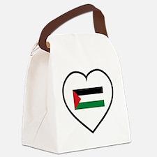 I Love Palestine Canvas Lunch Bag