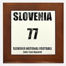 Slovenia football vintage Framed Tile