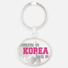 Someone in Korea Oval Keychain