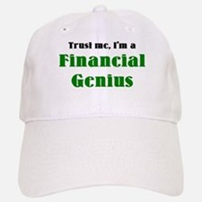 financial genius Baseball Baseball Cap