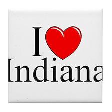 """""""I Love Indiana"""" Tile Coaster"""