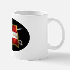 GA first national (Oval)blk Mug