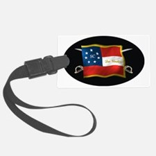 SC first national (Oval)blk Luggage Tag