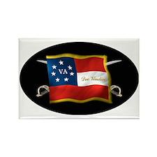 VA first national (Oval)blk Rectangle Magnet