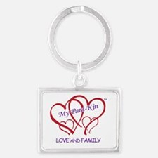 4hearts-pkin-luvfamily Landscape Keychain