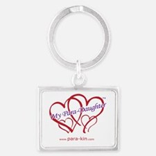 4hearts-pdaughter-www Landscape Keychain