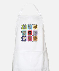 Meow Cat Lover BBQ Apron