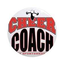 CHEER-COACH Round Ornament