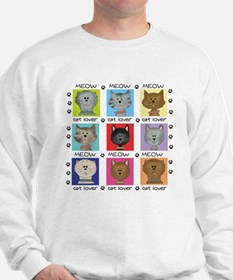Meow Cat Lover Sweatshirt