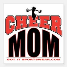 """CHEER-MOM Square Car Magnet 3"""" x 3"""""""