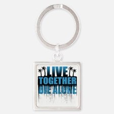 live-together-island-blue5 Square Keychain