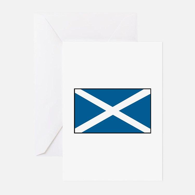 Scotland Flag Greeting Cards (Pk of 10)