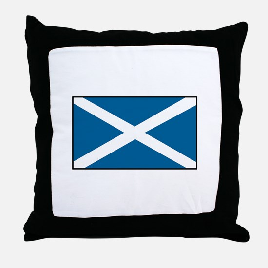 Scotland Flag Throw Pillow