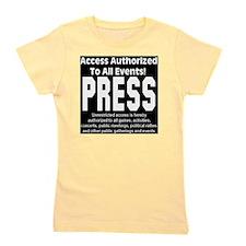 press_black Girl's Tee