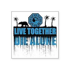 "live-together-polar Square Sticker 3"" x 3"""