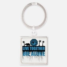 live-together-polar Square Keychain