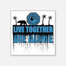 "live-together-polar-sh Square Sticker 3"" x 3"""