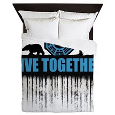 2-live-together-dharma-white2 Queen Duvet