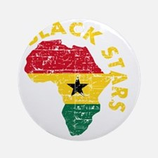 Blackstars African map Round Ornament