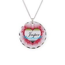 3-jasperheart Necklace