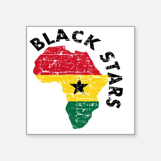 "blackstars_real1 Square Sticker 3"" x 3"""