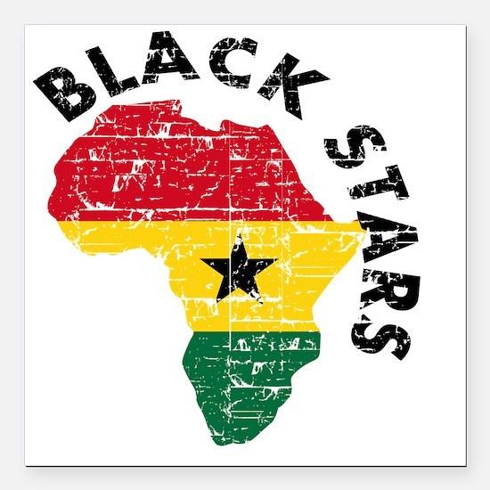 "blackstars_real1 Square Car Magnet 3"" x 3"""