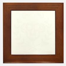 10x10_apparel_white_skull Framed Tile