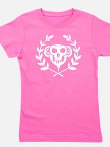 10x10_apparel_white_skull Girl's Tee