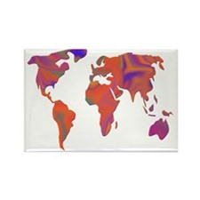 colorful world Rectangle Magnet