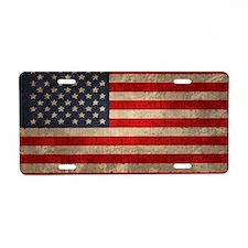 8-flag1-dist2-OV2 Aluminum License Plate