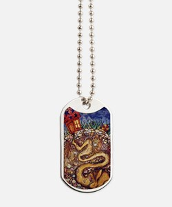 Rabbit at Night Dog Tags