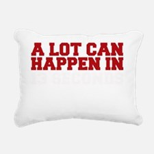 A lot can happen in 13 s Rectangular Canvas Pillow