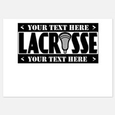 Lacrosse Blackout Personalize Invitations