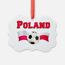 Poland Soccer Baby Ornament