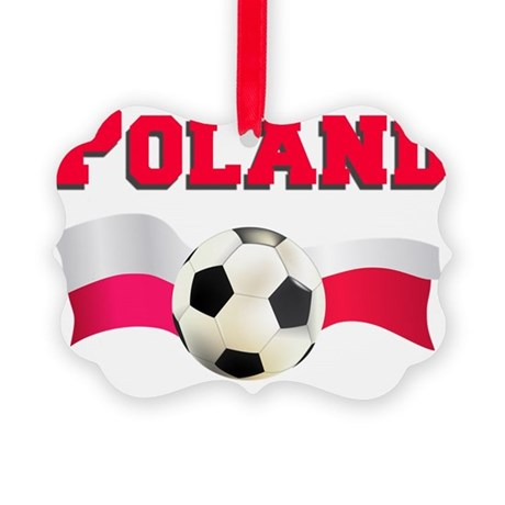 Poland Soccer Baby Picture Ornament