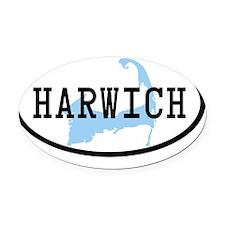 harwich-oval-bumper-sticker Oval Car Magnet