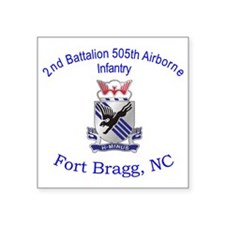 "2nd Bn 505th ABN Square Sticker 3"" x 3"""